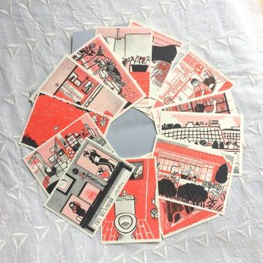 解体された祖母の家の思い出カード
