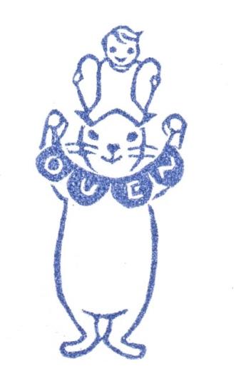赤ちゃん応援団のロゴ。ウサギと赤ちゃんを合体させてみました。